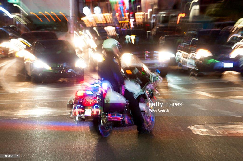 Police in traffic emergency : Stock Photo
