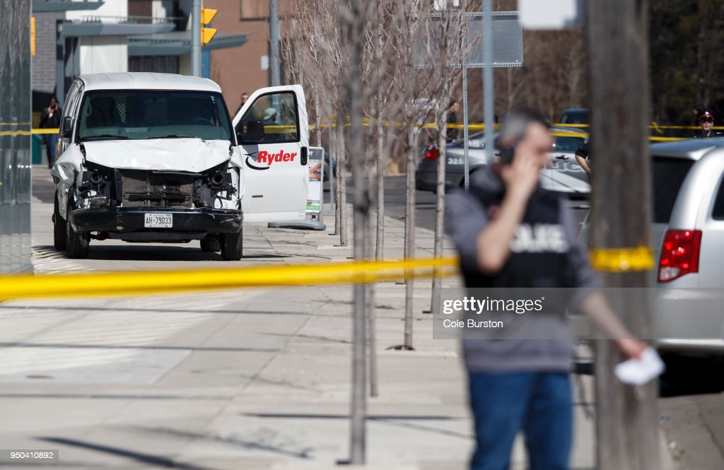 Rental Van Plows Into Pedestrians On Toronto Street, Injuring At Least Eight : News Photo