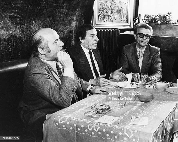 Police Inspector Roger Borniche lunch with Rene Girier says René canne in a Parisian restaurant Paris 1981