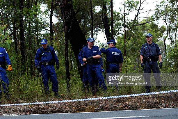 NSW Police investigate a crime scene where human remains were discovered in Bilpin off the Bells Line The are yet to determine if the body is that of...