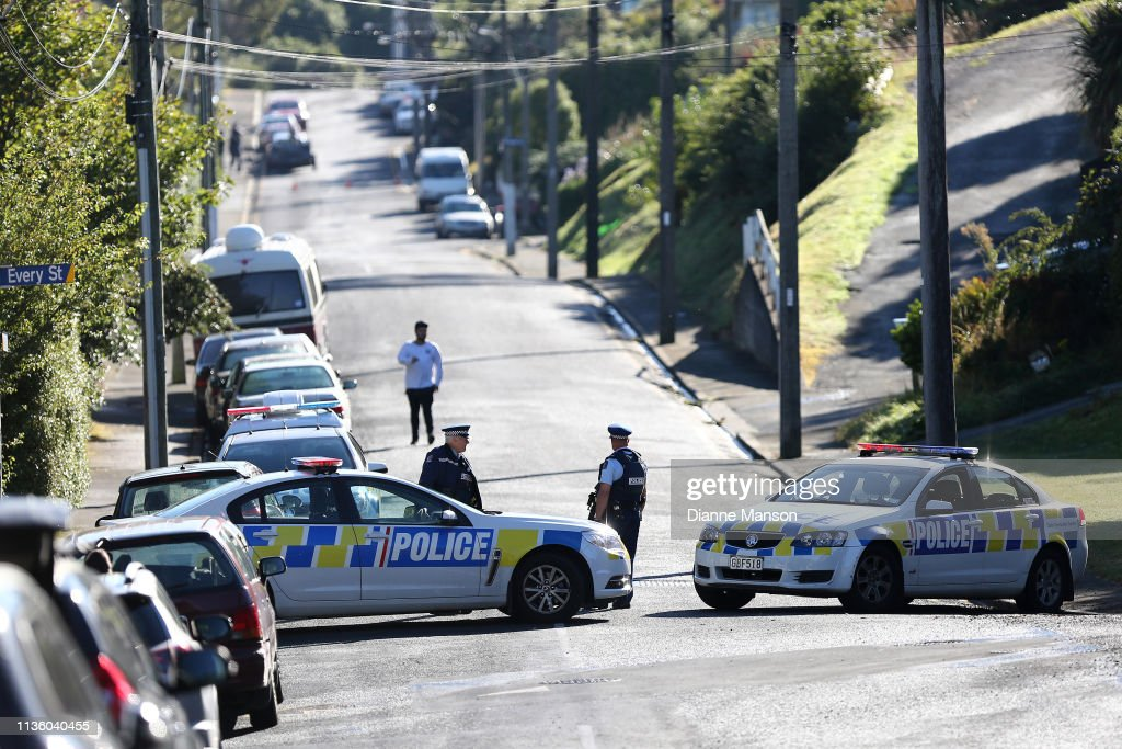 Police Raid Property Connected To Christchurch Mosque Terror Attack : News Photo