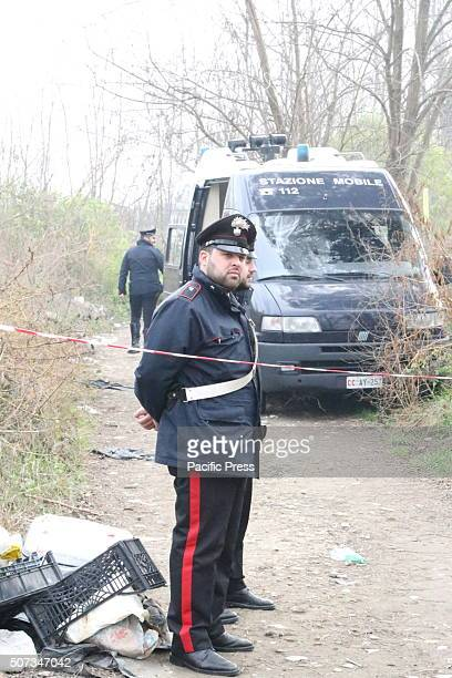Police investigates the crime in Napoli Two bullets in the face And then the body set on fire A Charred corpse was found in a dirt road near the exit...