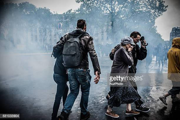 Police launched tear gasses over the place Vauban during a protest after the French government made use of the constitution's Article 493 allowing...