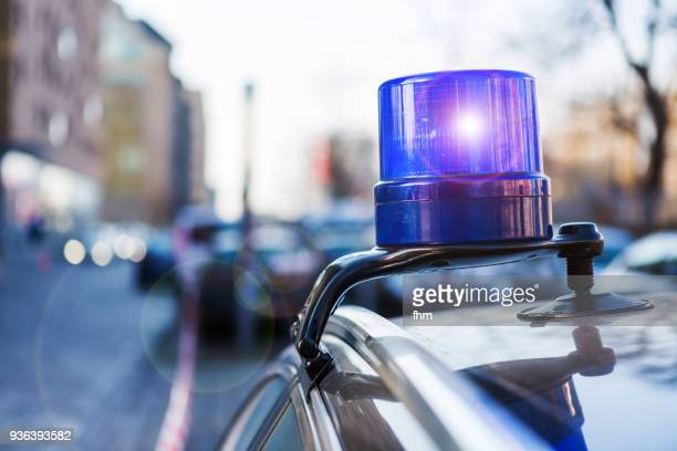 police light on a civil car of the german police - (berlin, germany) - image stock-fotos und bilder