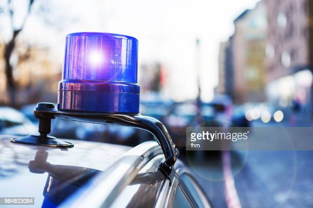 police light on a civil car of the german police - (berlin, germany) - crimine foto e immagini stock