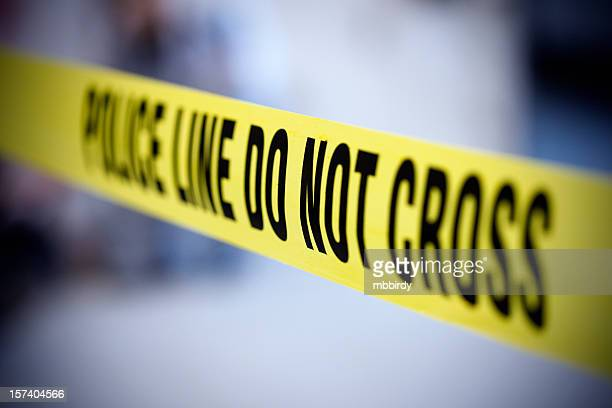 police line belt - cordon tape stock pictures, royalty-free photos & images