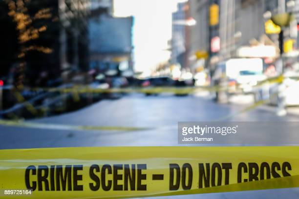 police line - crime scene - cordon tape stock pictures, royalty-free photos & images