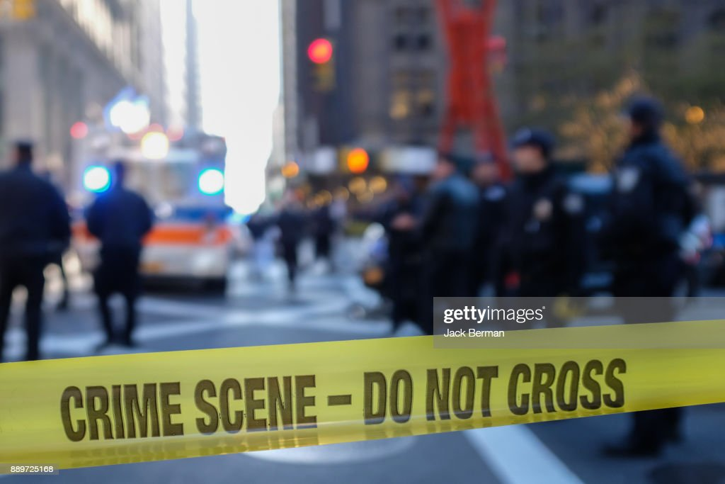 Police Line - Crime Scene : Stock Photo