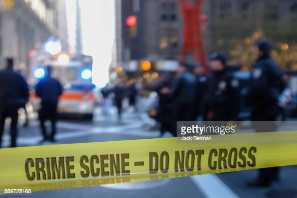police line - crime scene - crime stock pictures, royalty-free photos & images