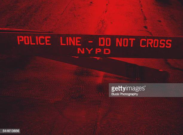 police line - do not cross nypd fence in the streets of new york city, usa - terrorism stock pictures, royalty-free photos & images
