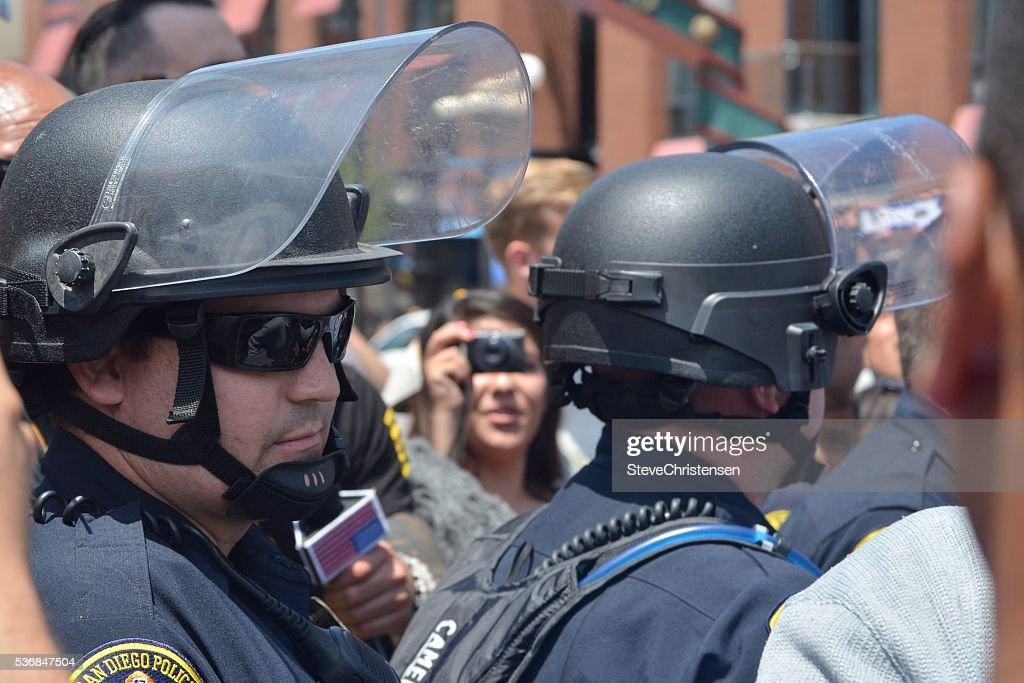 Police Line : Stock Photo