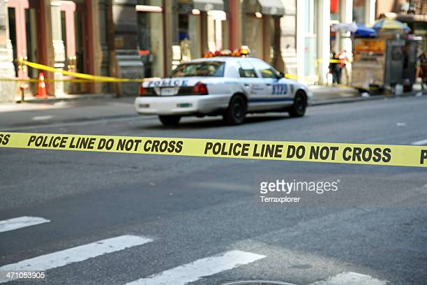 police line tape - cordon tape stock pictures, royalty-free photos & images