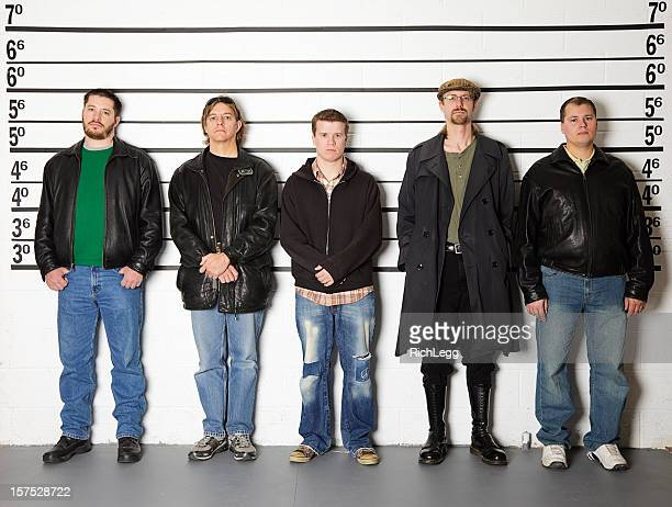 police line-up - criminal stock pictures, royalty-free photos & images