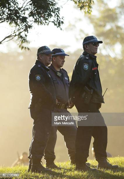Police look on during Splendour in the Grass 2017 on July 23 2017 in Byron Bay Australia