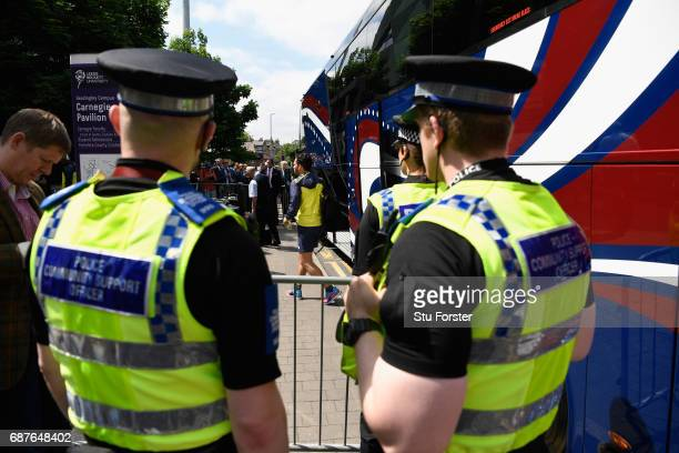 Police maintain a presence outside the stadium before the 1st Royal London One Day International match between England and South Africa at Headingley...