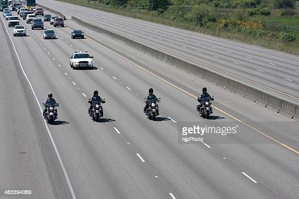 police memorial motorcade heading north 6-6-13 - motorcade stock pictures, royalty-free photos & images