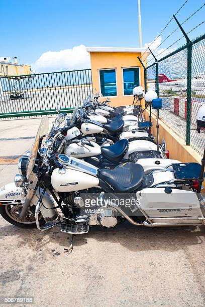 Police Motorcycles at an Airport