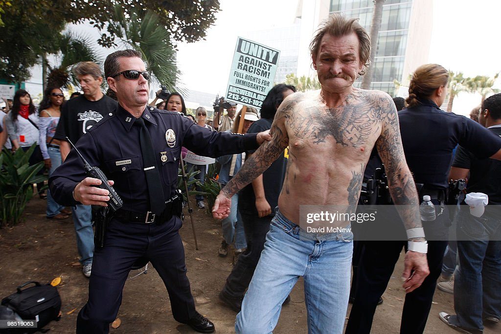 National Socialist Movement Holds Rally In Los Angeles : News Photo