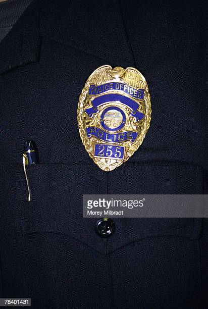 police officer badge - distintivo de polícia - fotografias e filmes do acervo