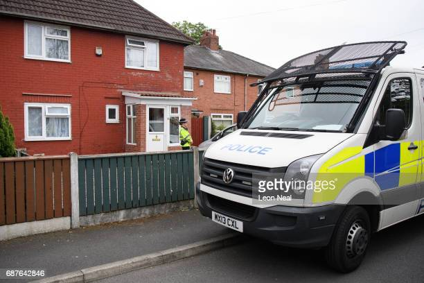 Police officer guard the location of a building where it is believed a number of arrests were made in connection with terrorist Salman Abedi on May...