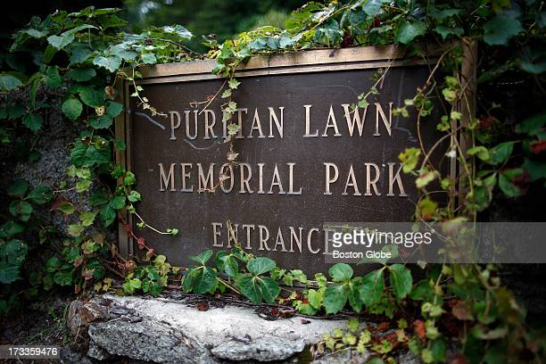 A police officer guards the entrance to the Puritan Lawn Memorial Park home to the gravesite of Albert DeSalvo in Peabody Mass July 10 2013