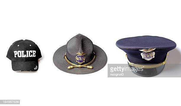 Police officer hat selection