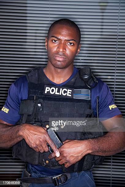 Police officer in tactical suit