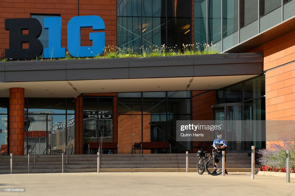Parents of Big Ten Football Players Protest Conference Decision to Postpone Football Season : News Photo