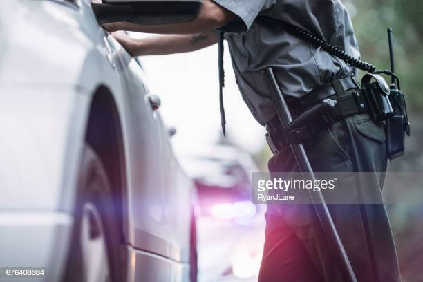 Police Officer Making Traffic Stop