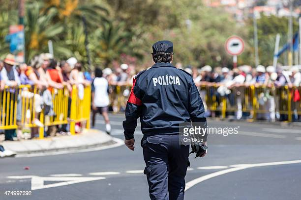 Police Officer of Funchal on Island of Madeira, Portugal