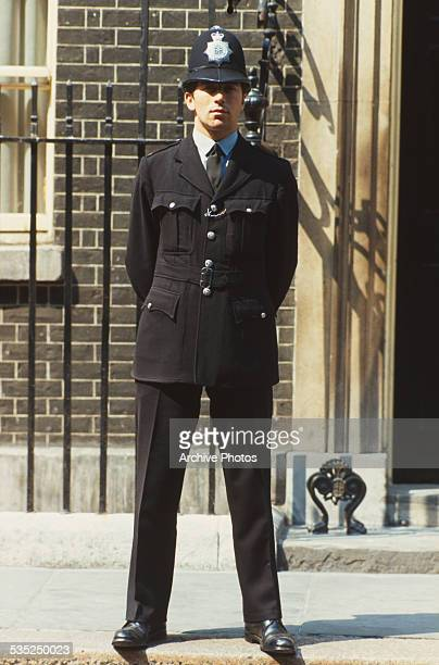 A police officer on duty in London circa 1975