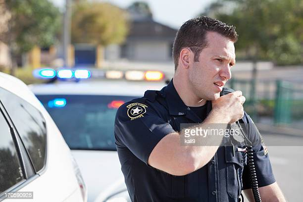 police officer - radio stock pictures, royalty-free photos & images