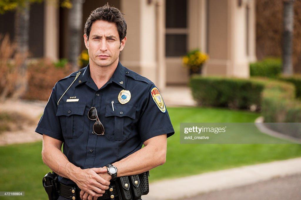 Policial Retrato : Foto de stock