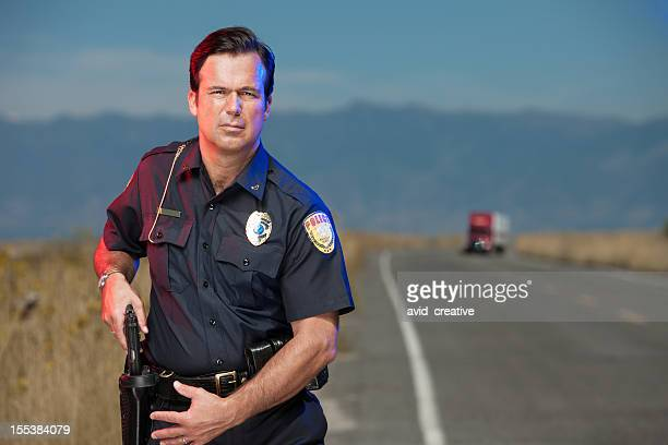 Police Officer Ready for Action