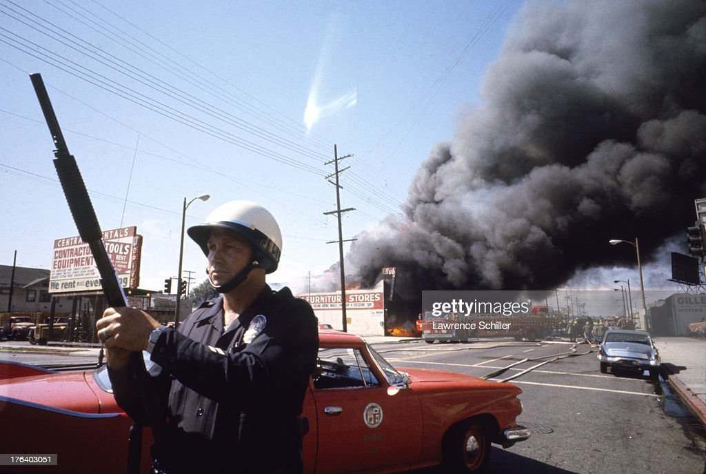 Image result for watts riot in color