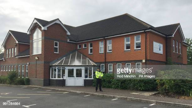 A police officer stands outside Amesbury Baptist Church in Amesbury Wiltshire where a major incident has been declared after it was suspected that...
