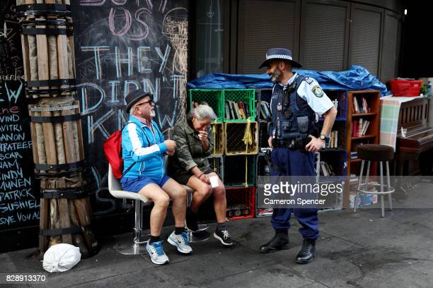 A police officer talks to people at Martin Place on August 10 2017 in Sydney Australia The NSW Government passed a new bill on Wednesday giving...