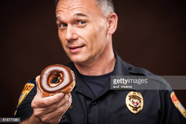Police Officer with Donut