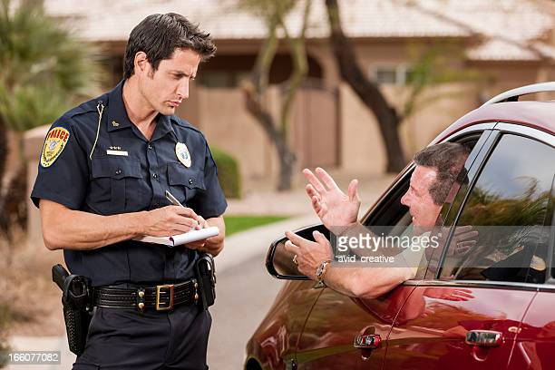 Image result for officer pulling over car picture