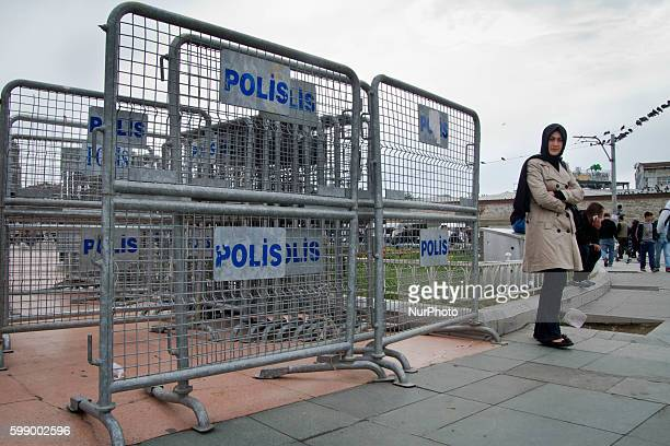 39000 police officers and 50 water cannons are prepared to impeach people to go to Taksim square for the Mayday demonstrations tomorrow Streets near...