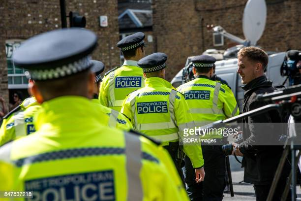 Police officers and journalists at Parsons Green Several people have been injured after an explosion on a tube train in southwest London The Police...