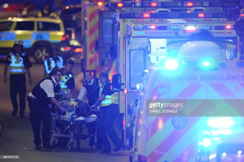 TOPSHOT-BRITAIN-ATTACKS-POLITICS : News Photo