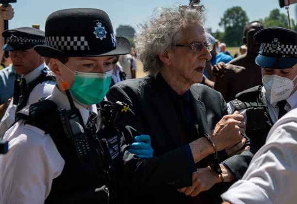 GBR: Anti-Lockdown Protest In Hyde Park