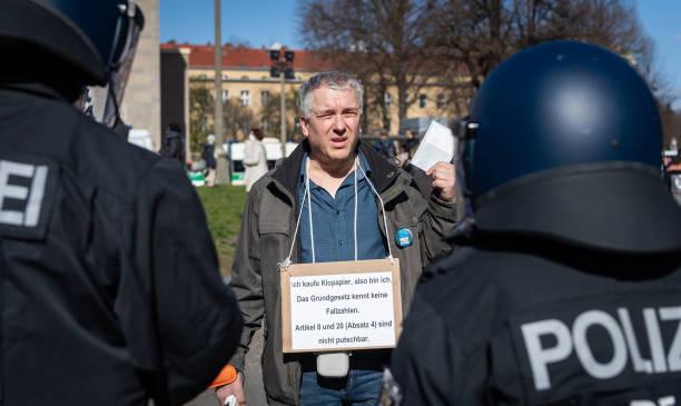 DEU: Group In Berlin Protest Against Coronavirus Restrictions