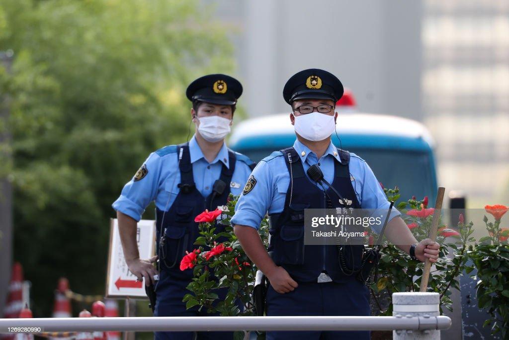 Japan's Prime Minister Abe Announces Resignation : Nieuwsfoto's