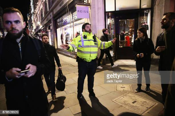 Police officers are seen near Oxford Circus underground station on November 24 2017 in London England Police are responding to reports of an incident...