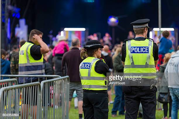 Police officers at a Scottish Music Festival