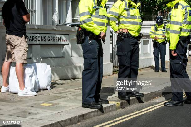 Police officers at Parsons Green Several people have been injured after an explosion on a tube train in southwest London The Police are treating the...