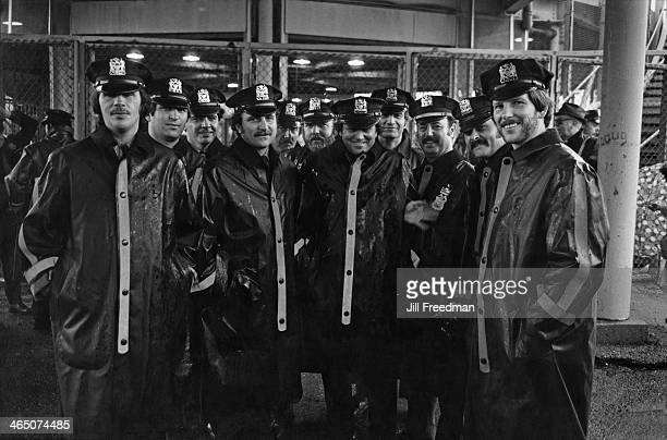 Police officers at Shea Stadium in New York City during a visit by Pope John Paul II 1979