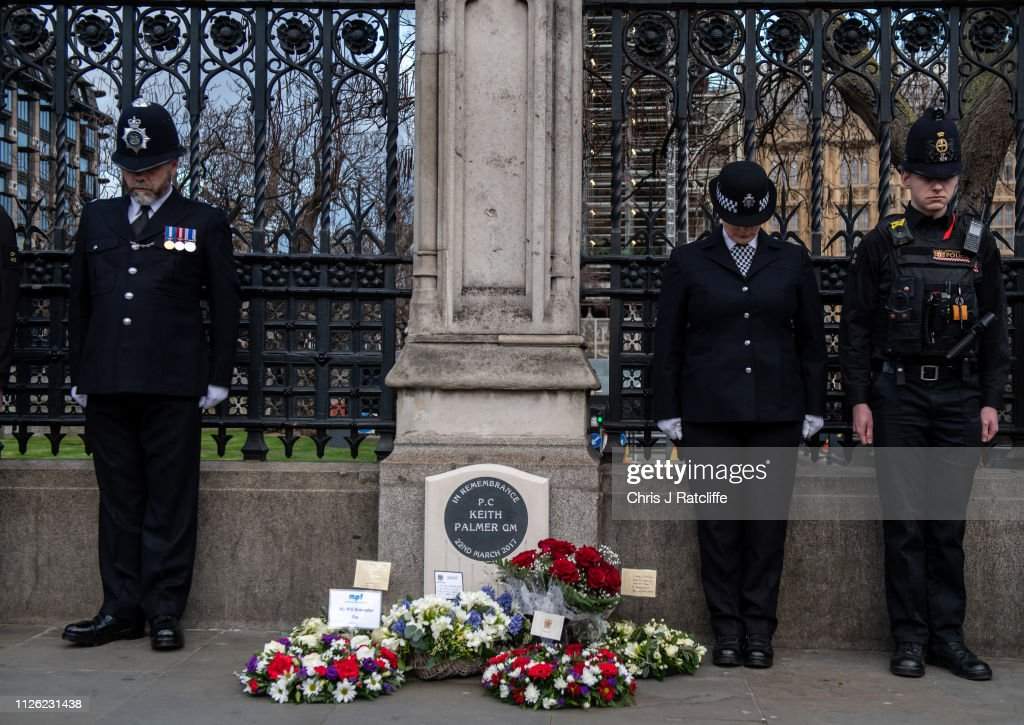GBR: Memorial Statue To Murdered PC Keith Palmer Is Unveiled At UK Parliament